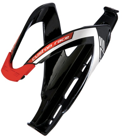 picture Custom Race Black Glossy Logo Red Bidonhouder