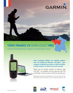 Garmin Topo Frankrijk Noordwest V3 Pro DVD
