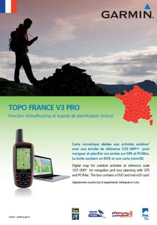 Garmin Topo Frankrijk Het Gehele Land V3 Pro DVD