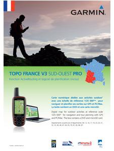 Garmin Topo Frankrijk Zuidwest V3 Pro DVD