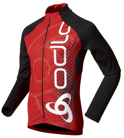 picture Fietsshirt Lange Mouwen Bike Trail Red/Black Heren
