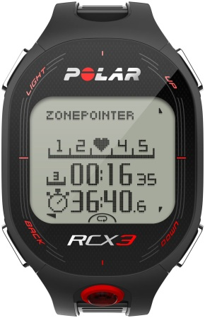 Polar RCX3 GPS Hartslagmeter Zwart