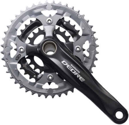 Shimano Deore Crankset Triple 9 speed Black