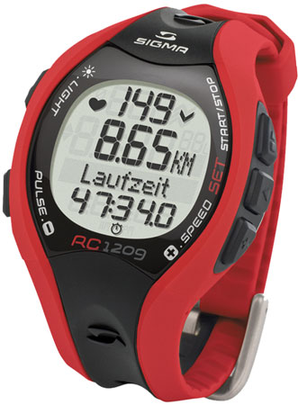 picture RC 1209 Red Hartslagmeter