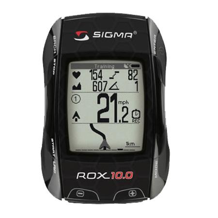 Sigma Rox 10.0 GPS Set Fietscomputer met Hartslagmeter Zwart