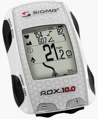 picture Rox 10.0 GPS Basic Fietscomputer zonder Hartslagmeter Wit