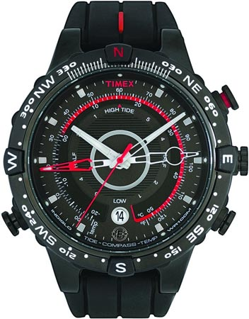 picture Intelligent Quartz E-Tide Expedition Full Zwart/Rood Outdoorhorloge
