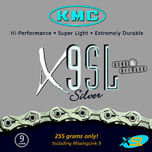 picture X9SL 9-Speed Superlight Silver/Titanium Ketting