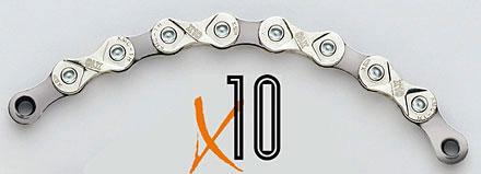 picture X10-93 10-Speed Zilver/Grijs Ketting