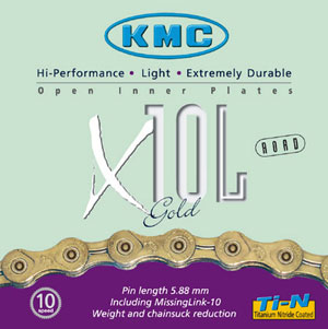 picture X10L 10-Speed Light Gold/Titanium Ketting