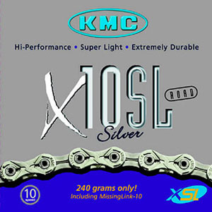 picture X10SL 10-Speed Superlight Silver/Titanium Ketting