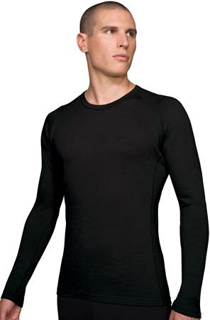 picture Bodyfit 200 Lightweight Oasis Crewe Black Ondershirt Heren