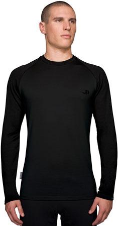 picture Bodyfit 260 Midweight LS Crewe Black Ondershirt Heren