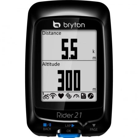 Bryton Bryton Rider 21T zwart Met Hartslag, Snelheid en Cadans