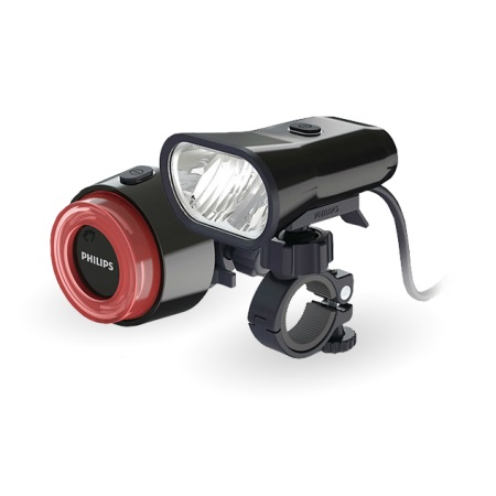 picture ActiveRide Dual Beam 800 LED Koplamp en SafeRide LED Lightring Achterl