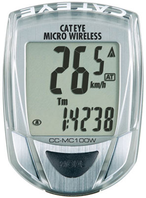 picture Micro Wireless MC100W Zilver Fietscomputer