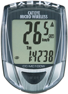 picture Micro Wireless MC100W Zwart Fietscomputer