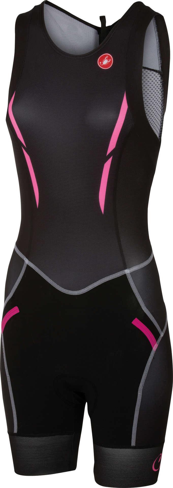 1943075a346 Free Triathlon ITU Suit Zwart/Roze Dames