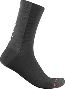 Castelli Bandito Wool 18 Fietssokken Zwart