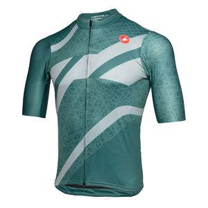 Castelli Squadra Limited Edition Fietsshirt Korte Mouwen Groen Heren