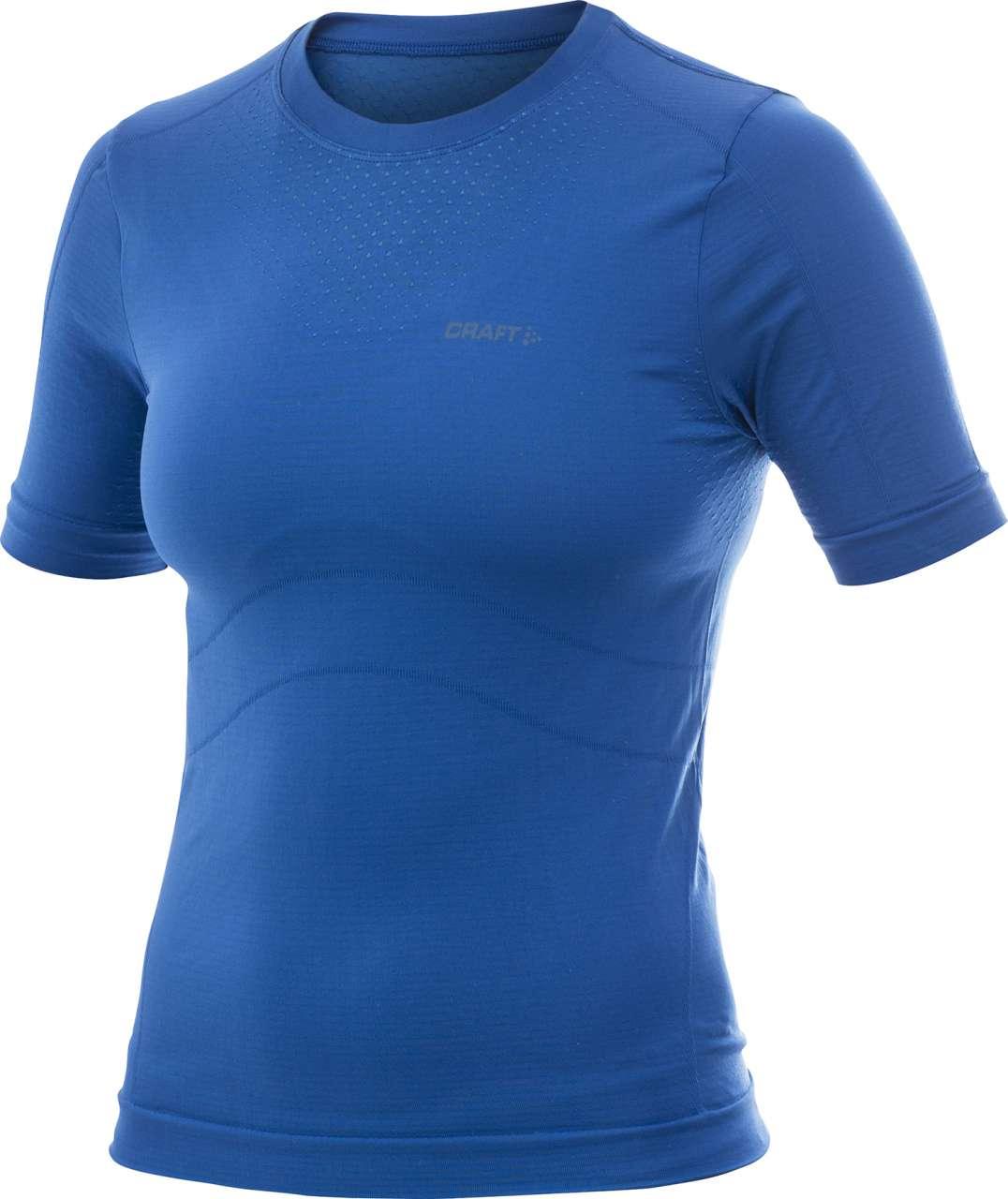 0215a2b188d Cool Seamless Shirt Korte Mouwen Blauw Dames