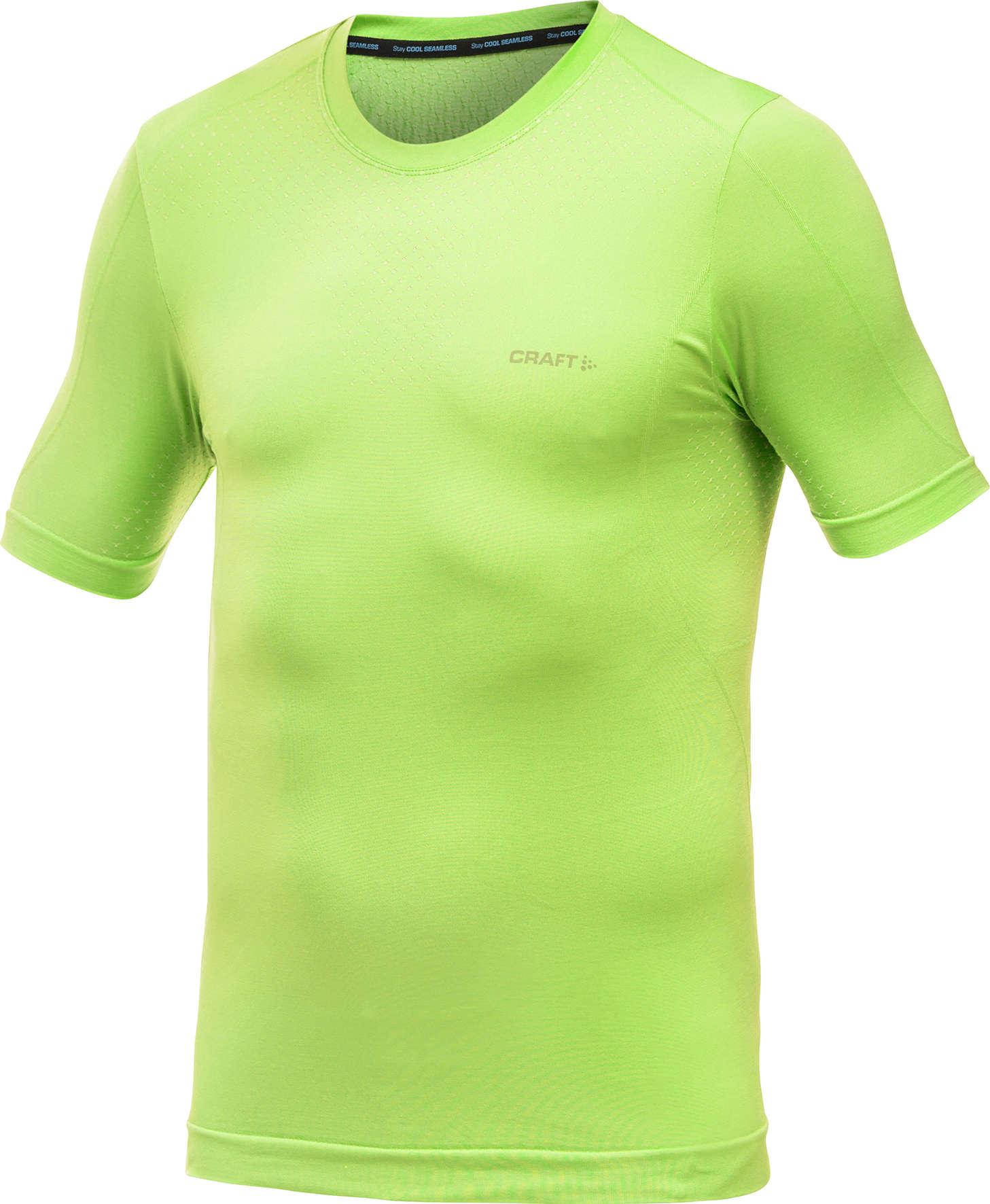 87730743d33 Stay Cool Seamless Ondershirt Korte Mouwen Groen Heren