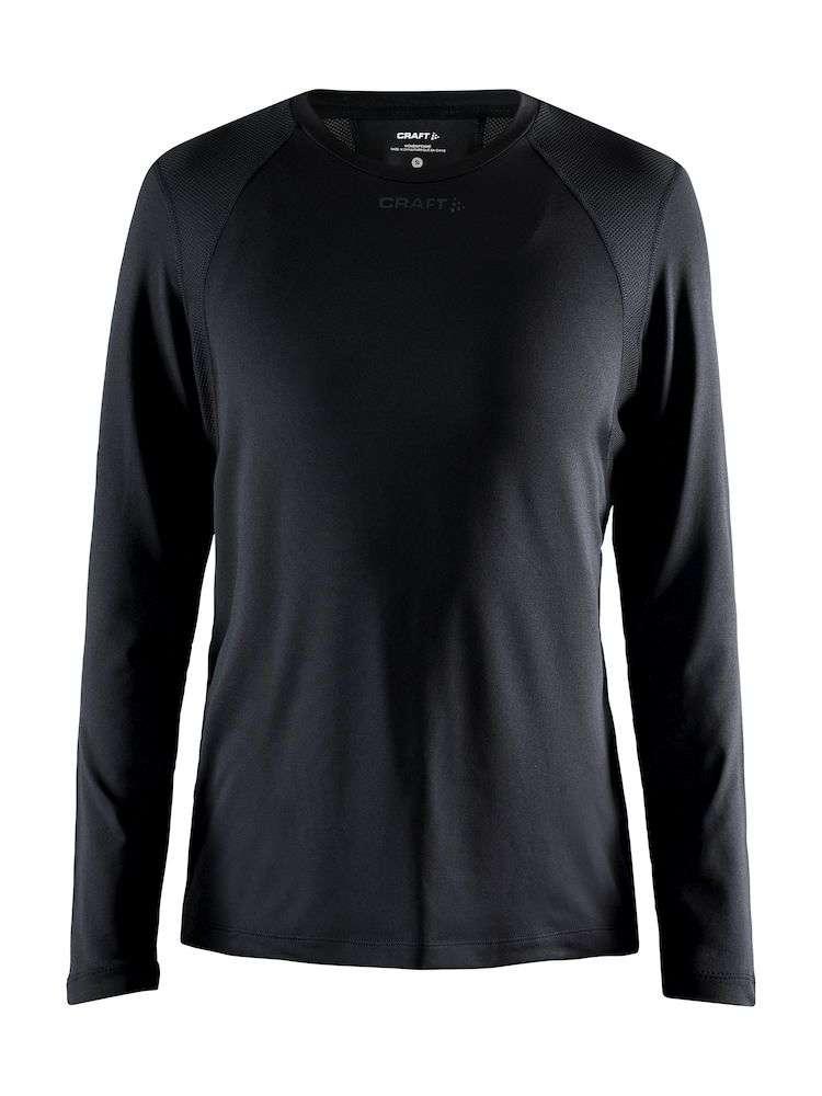 Craft ADV Essence Hardloopshirt Lange Mouwen Zwart Dames