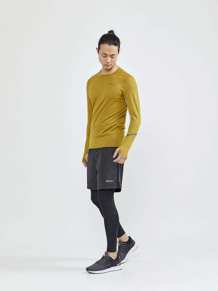 Craft SubZ Wool Hardloopshirt Lange Mouwen Bruin Heren