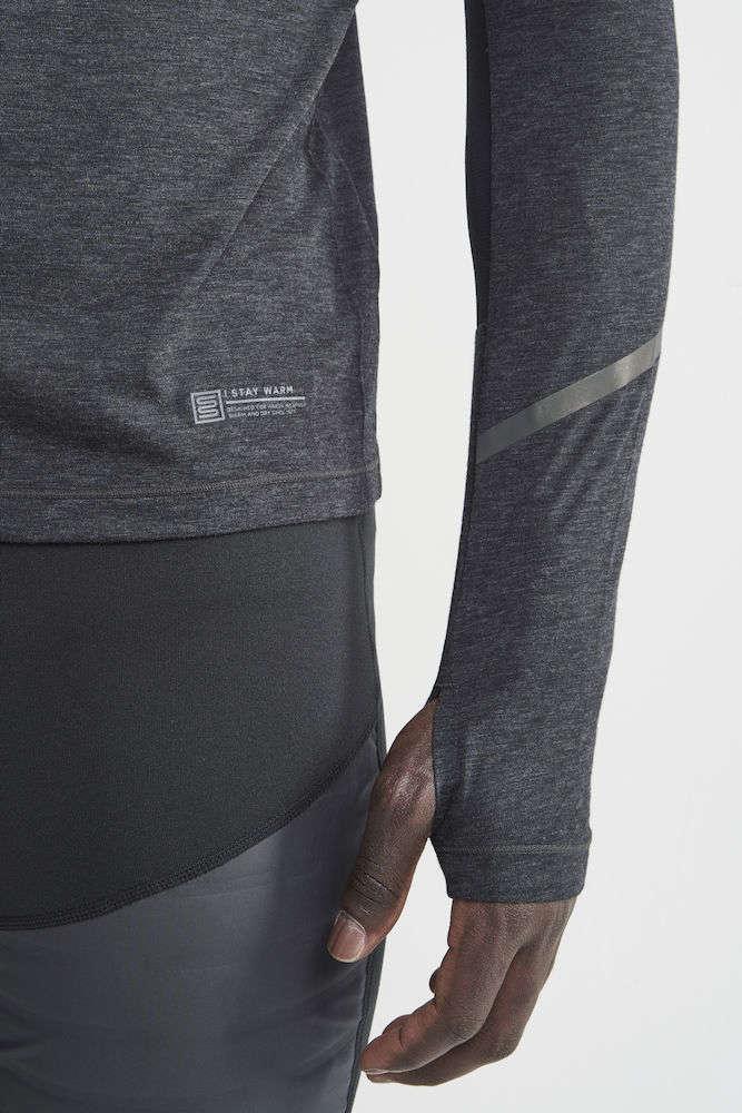 Craft SubZ Wool Hardloopshirt Lange Mouwen Donkergrijs Heren