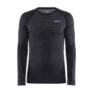 Craft CORE Wool Merino Hardloopshirt Lange Mouwen Zwart Melange Heren