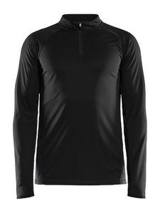 Craft Eaze Half Zip Hardloopshirt Lange Mouwen Zwart/Groen Heren
