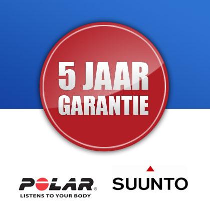 FuturumShop 5 jaar garantie Polar en Suunto