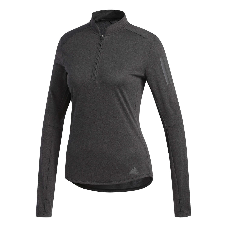 71012715c4a adidas Own The Run Zip Hardloopshirt Lange Mouwen Zwart Dames koop ...