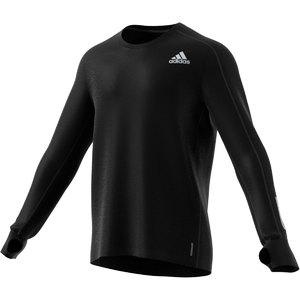 adidas Own The Run Hardloopshirt Lange Mouwen Zwart Heren