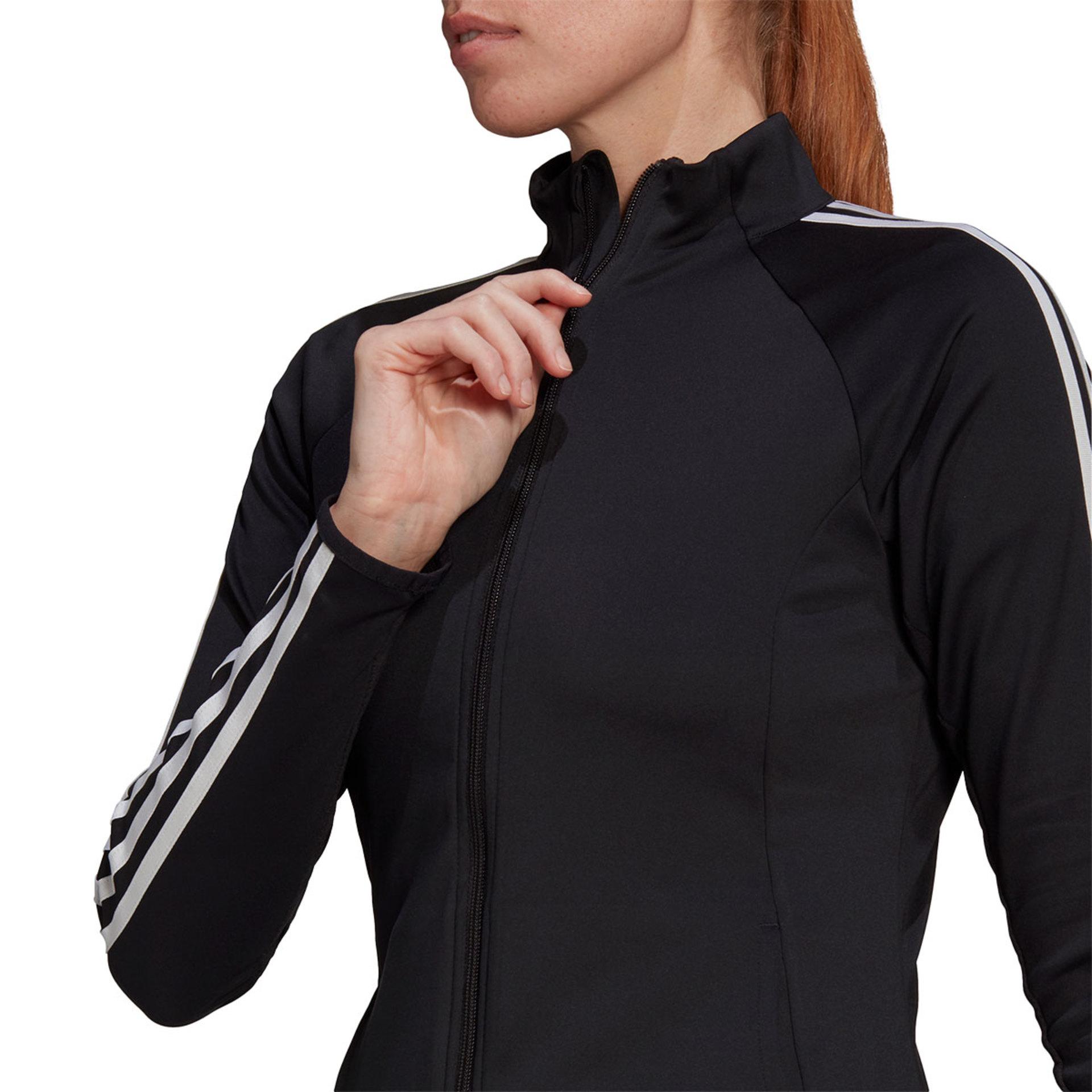 adidas 3 Stripes Hardloopjack Zwart Dames