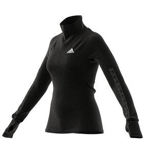adidas Half-Zip Training Workout Hardloopshirt Lange Mouwen Zwart Dames