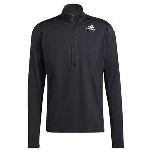 adidas Own The Run 1/2 Zip Response Hardloopshirt Lange Mouwen Zwart Heren