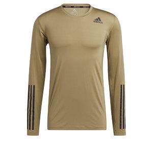 adidas 3-Stripes Training Hardloopshirt Lange Mouwen Groen Heren