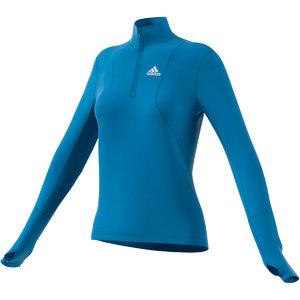 adidas Own The Run 1/2 Zip Hardloopshirt Lange Mouwen Blauw Dames