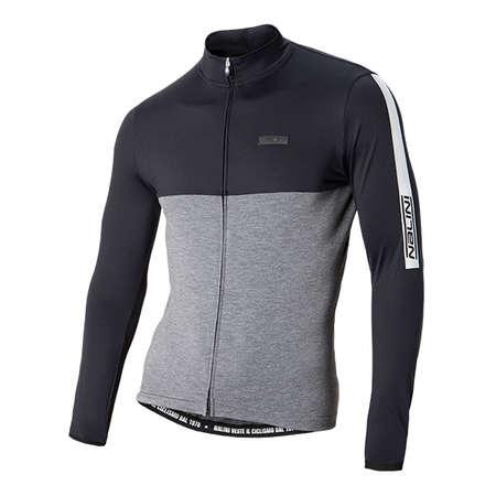fe017af4dbd2cd Nalini Mantova Warm Fietsshirt Lange Mouwen Zwart Grijs Heren koop ...
