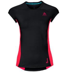 b4d9f100b0d Odlo Ceramicool Pro Hardloopshirt Korte Mouwen Zwart/Roze Dames