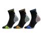 Odlo Ceramicool Quarter 3 Pack Hardloopsokken Zwart/Multicolor Unisex