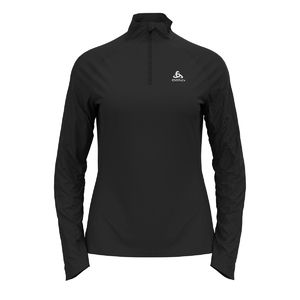 Odlo Essential Ceramiwarm Midlayer Hardloopshirt Lange Mouwen Zwart Dames