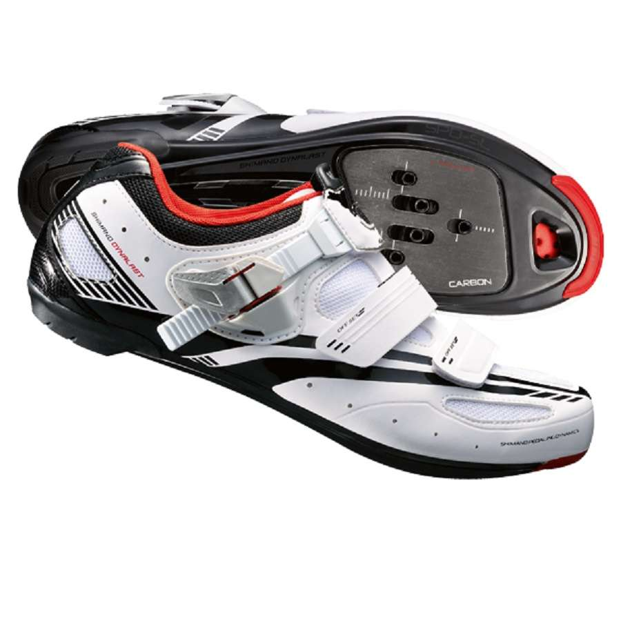 Blanc Chaussures Shimano Avec Des Hommes De Fermeture Velcro BCAQGtI