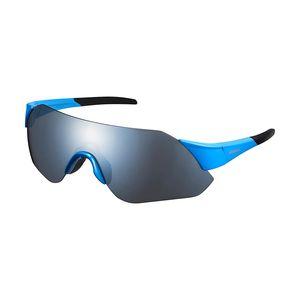 Shimano Aerolite Sport Zonnebril Blauw Met Smoke Zilver Mirror Lens
