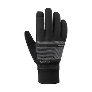 Shimano Windbreaker Winter Fietshandschoenen Zwart/Grijs