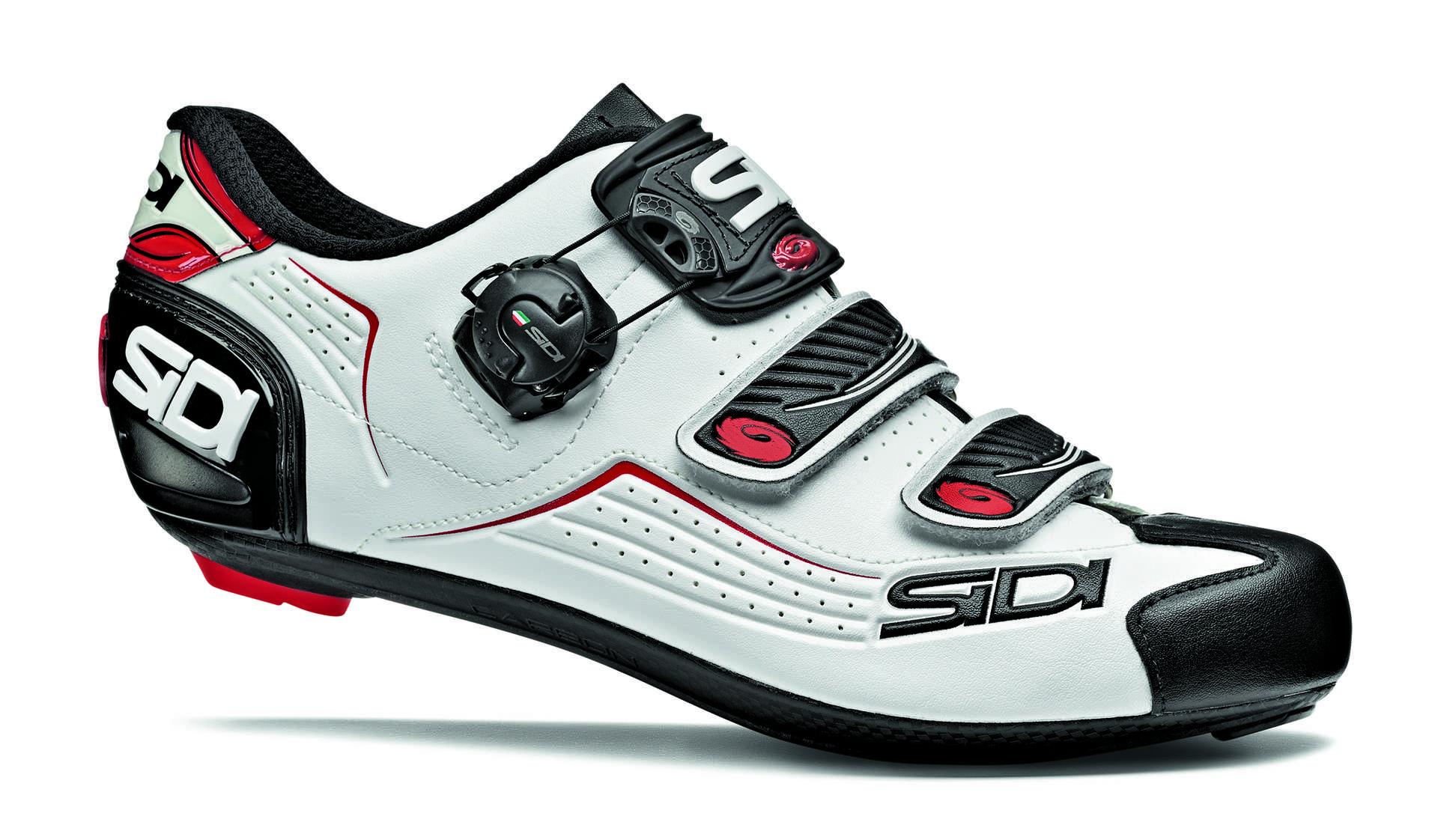 Chaussures Blanc Sidi Avec Des Hommes De Fermeture Velcro kQD8DaFZs