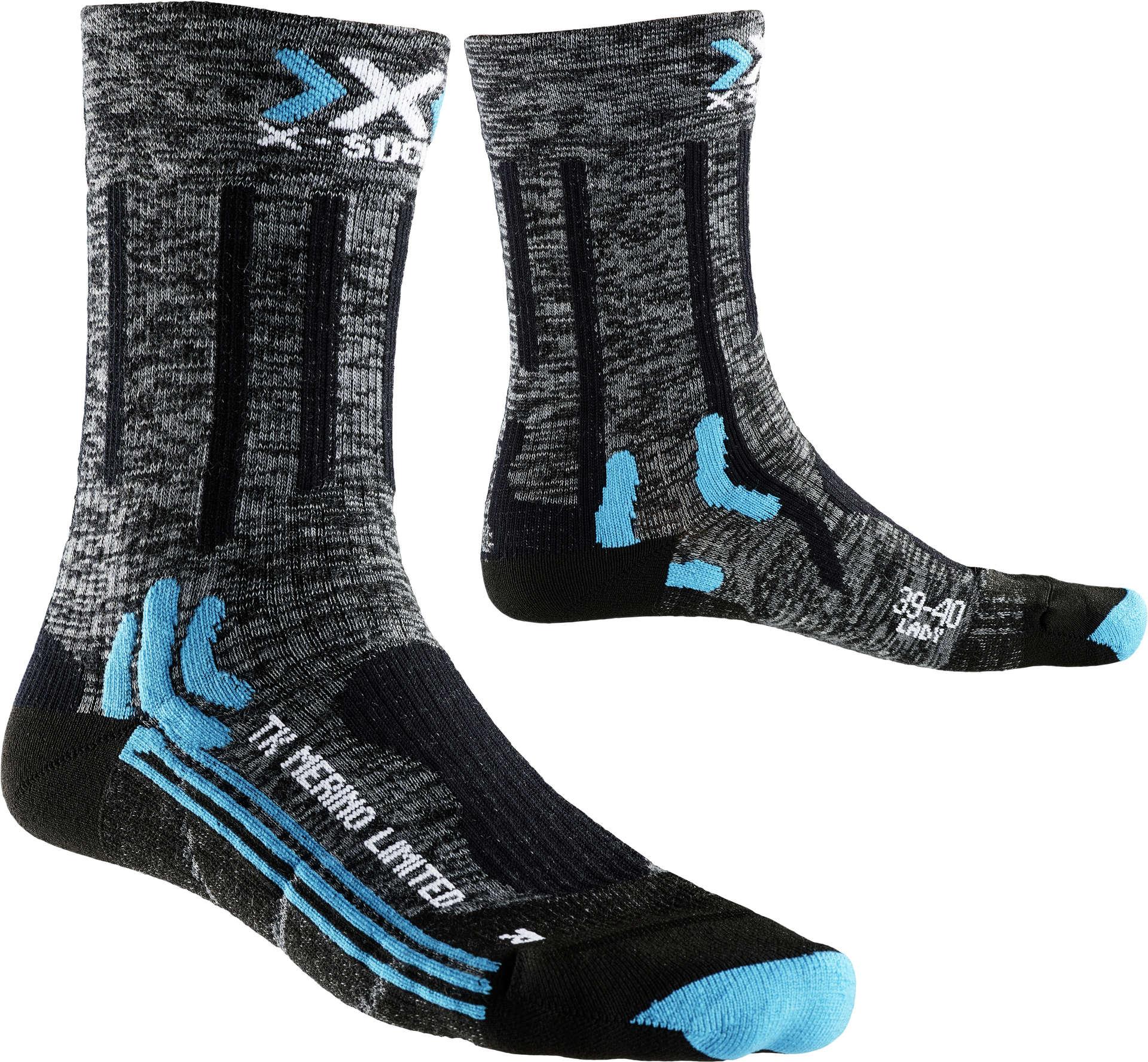 nieuwe authentiek lage prijs verkoop op voeten bij Trekking Merino Limited Wandelsokken Grijs/Zwart Dames