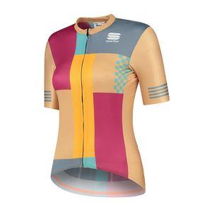 Sportful Neo Fietsshirt Korte Mouwen Oranje/Paars Dames