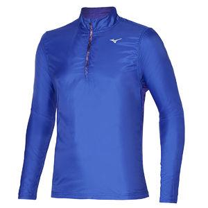 Mizuno Hybrid Hardloopshirt Lange Mouwen Blauw Heren